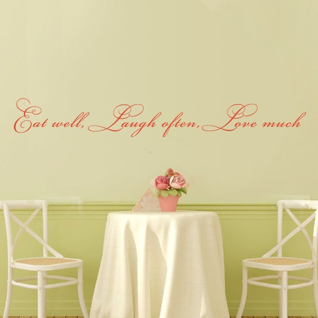 Eat well, laugh often, love much Vinyl Wall Quote Decal Living Room ...