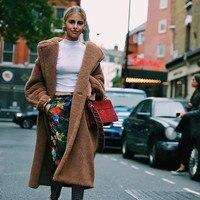 2018 Teddy Bear Coat Winter Warm Fur Coat jacket fleece jacket women faux fur Medium Long Ladies Wool Long High Street