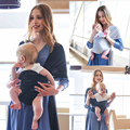 Solide Baby Träger Sling Infant Wrap Hipseat Stillen Atmungsaktiv Pflege Abdeckung