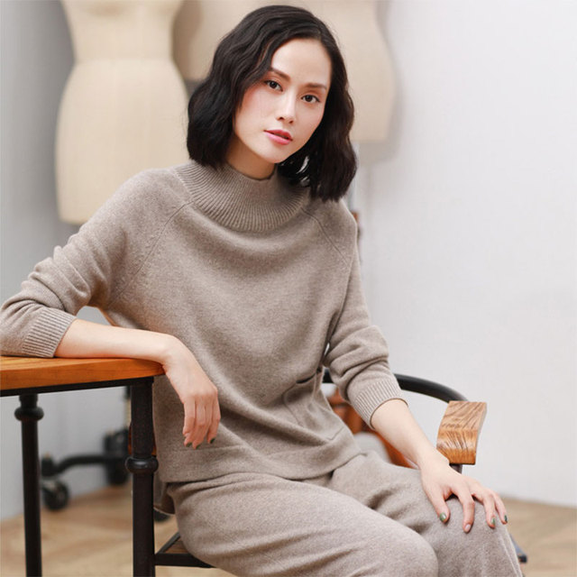 a71798cc1a4 Kashana Newest Pure Cashmere Sweaters Fashion Women s Cable Knit Sweater  Long Sleeve Solid Color Knitting Long Sweaters For Fall