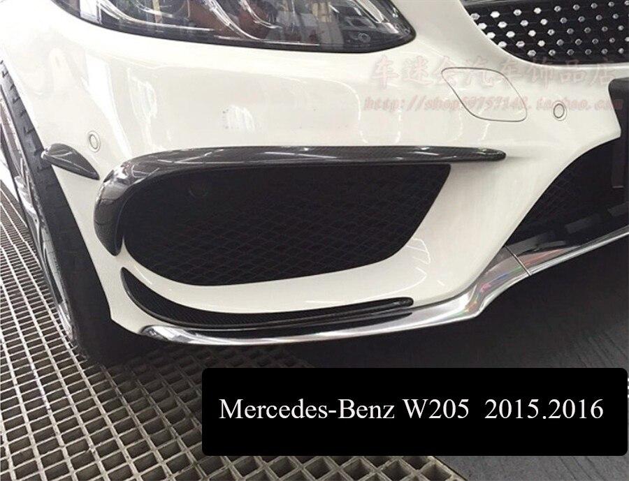 Front Lip Carbon Fiber Front Lip Spoiler For Mercedes-Benz W205 C180 C200 C260 C300 C350 C63 AMG 2015.2016.2017 Free shipping!