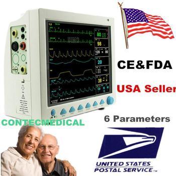 CONTEC CMS8000 ECG Blood Pressure SPO2 Pulse Rate Temperature Respiration ICU CCU MultiParameter Patient Monitor