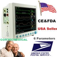 CONTEC CMS8000 ECG Blood Pressure SPO2 Pulse Rate Temperature Respiration ICU CCU MultiParameter Patient Monitor