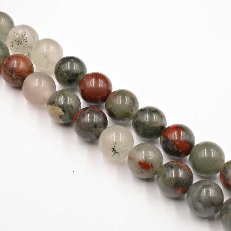 จัดส่งฟรีหินธรรมชาติลาย Agates ลูกปัด 4-12 มม.ลูกปัดทำ DIY ลูกปัดแบบหลวมสำหรับเครื่องประดับทำสร้อยคอเลือกขนาด