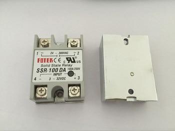 10PCS SSR100DA SSR-100DA Manufacturer 100A ssr relay,input 3-32VDC output 24-380VAC
