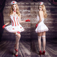 Women Sexy Lingerie Hot Erotic Costume Nurse Cosplay Sexy Babydoll Lingerie Dress White Lace Nurse Lingerie Sexy Costume Porno
