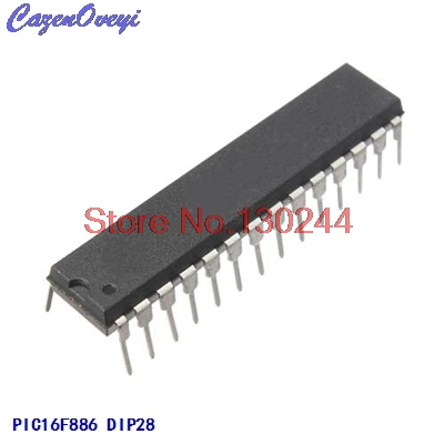 10pcs/lot PIC16F886-I/SP PIC16F886ISP PIC16F886 16F886-I/SP DIP28 In Stock
