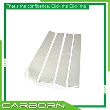 For Nissan Titan 2004-2009 304 Stainless Steel Car Window Pillar Post Trim-4 pieces цена