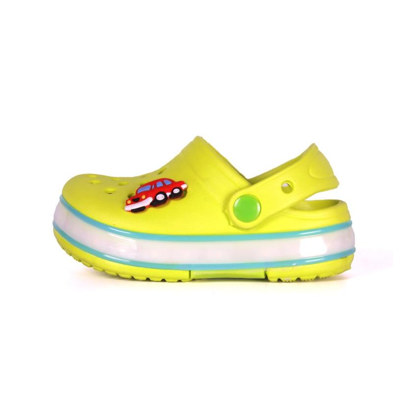 2021 New Kids Sandals Summer Shoes for Girls LED Beach Sandals EVA Shoes for Boys Sandals Children Shoes Flat Sandals 3
