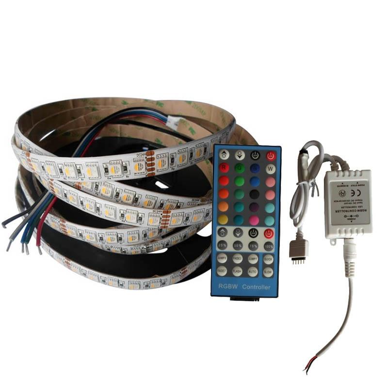 10 ensembles X en gros plus récent RGBW 4 couleurs dans une puce 24 V LED bande + 40key RGBW LED de contrôle livraison gratuite express