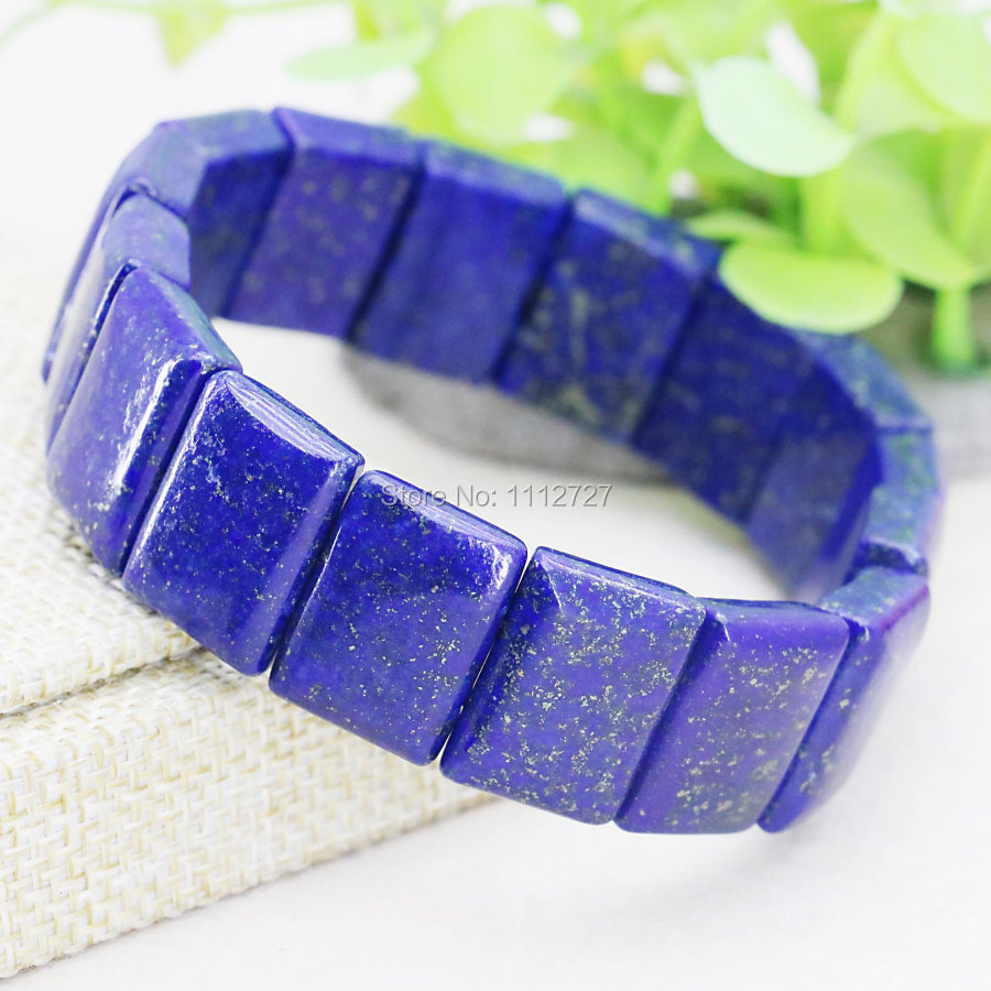 13x18mm Lapis lazuli Rectangle Hand Chain Bracelet Accessories ...