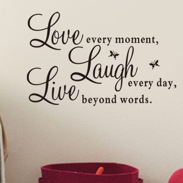 Factory Price Live Love Laugh Letters Vinyl Wall Quotes Decal Pvc