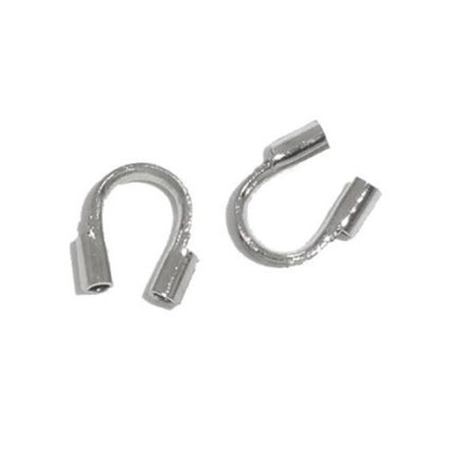 200 PCs Wire Guardian Wire Protectors 5mmx5mm(2/8x2/8) M1812 Colour:Silver -B06707