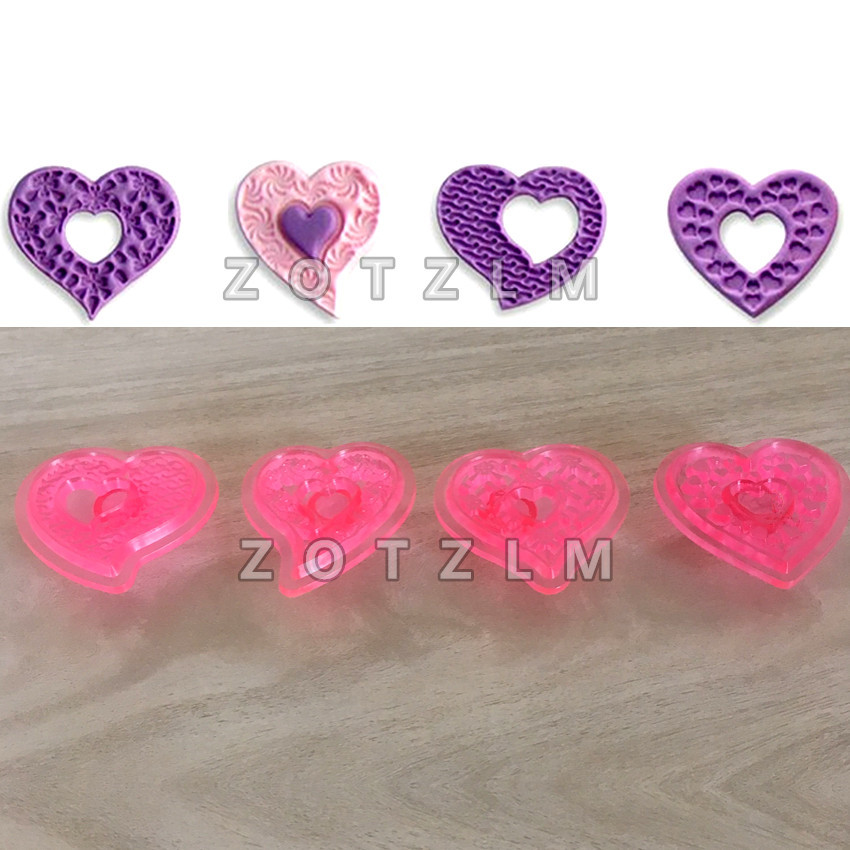 I Love You More Than Quotes: Aliexpress.com : Buy 4 Pcs/set Love Series Heart Shape