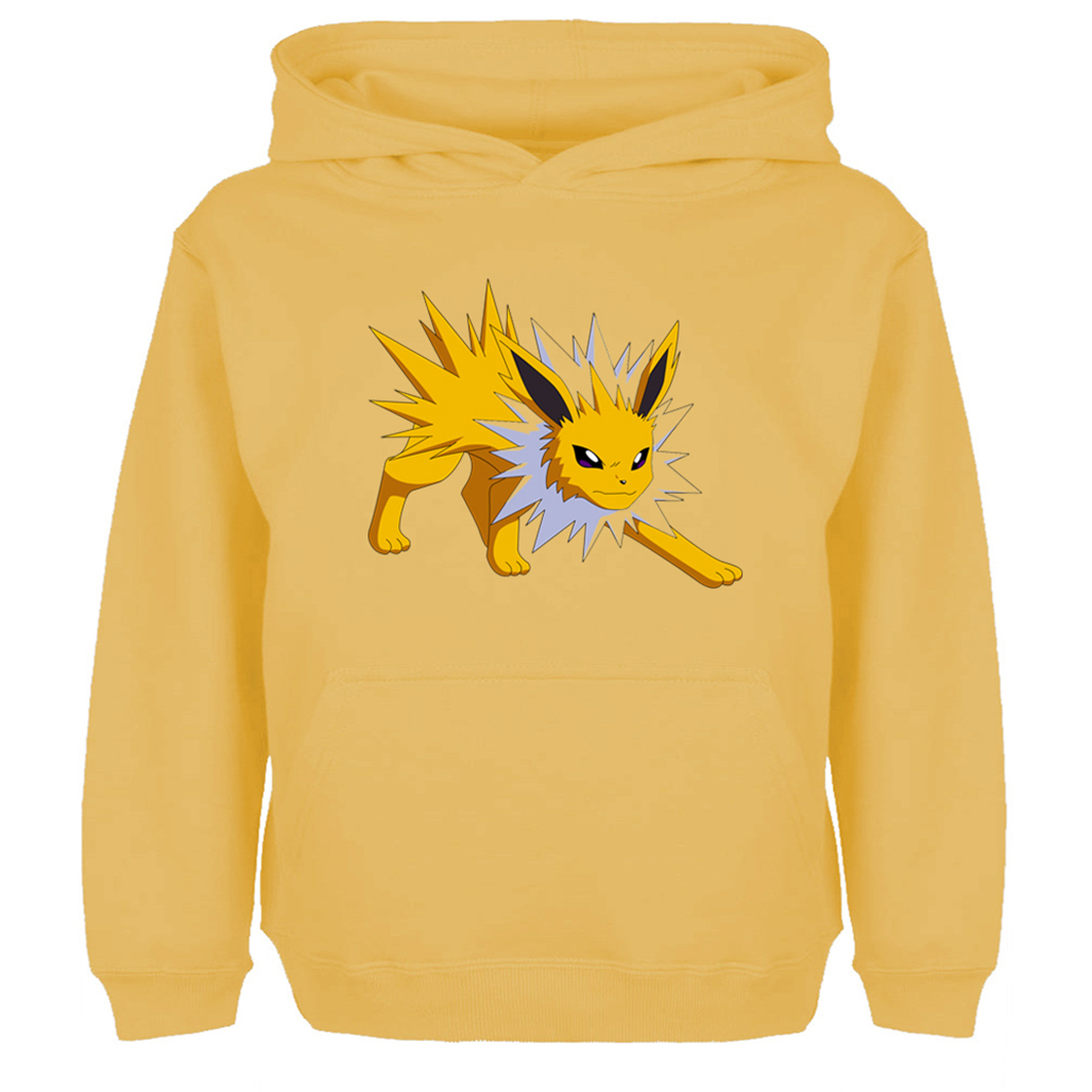 Anime Pokemon Cute Jolteon Design Hoodie Men Women Boy Girl Autumn Spring Winter Unisex Sweatshirts Casual Cotton Hooded Jackets