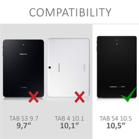 galaxy s4 360 Rotating Folding PU Leather Case for Samsung Galaxy Tab S4 10.5 inch SM-T830 / SM-T835 Tablet +Screen Protector +Stylus (2)