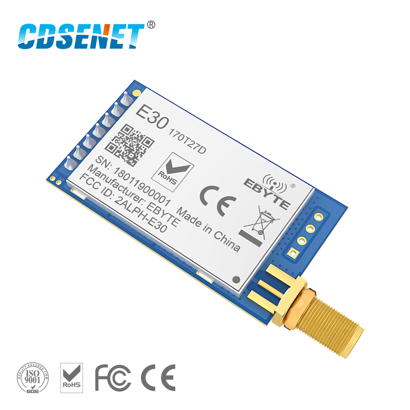 Беспроводной радиочастотный модуль SI4463, приемопередатчик vhf 170 МГц, CDSENET E30-170T27D UART, разъем SMA 500 МВт, iot TCXO, радиочастотный передатчик