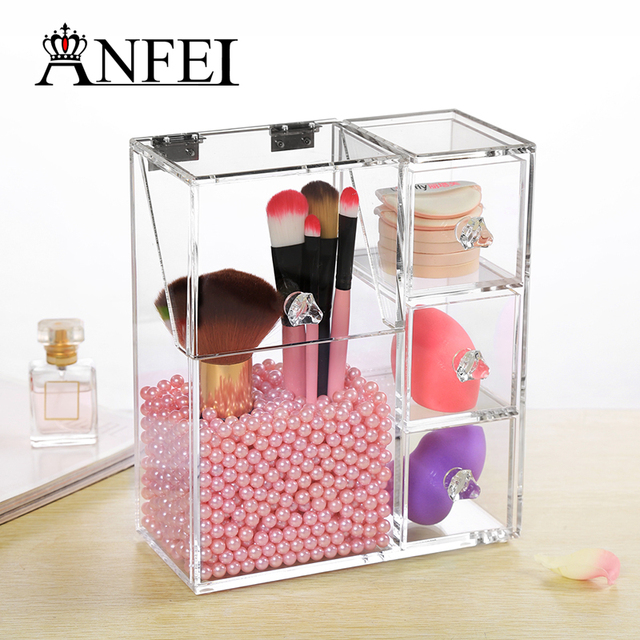 Makeup Organizer Acrylic Storage Box Rangement Maquillage Make Up Organizer  Cajas Organizadoras Jewelry Box C170