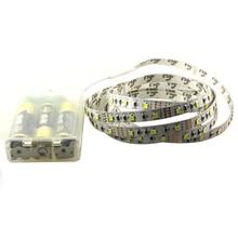 3528 3* AA Battery powered led strip 1m/2m/3m/4m/5m flexible light ribbon tape TV computer laptop RGB + controller Warm white