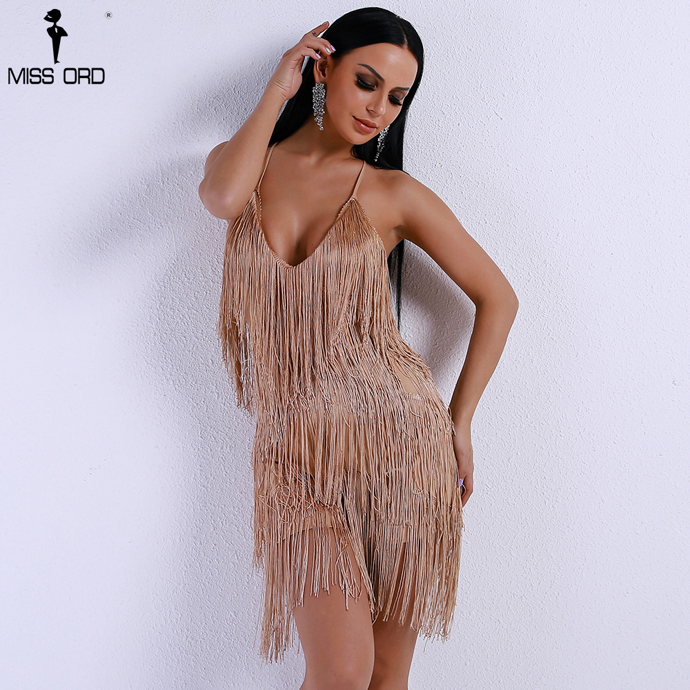 a27bac9f687 Missord 2019 Sexy V Neck Off Shoulder Cross Women Rompers Overalls Tassel  Backless Bachata Playsuit FT8338 2-in Rompers from Women s Clothing on ...