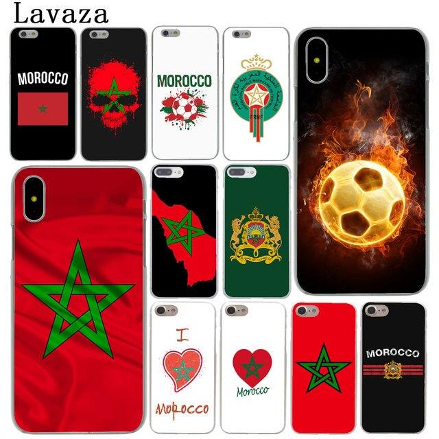 Lavaza Morocco Bóng Đá Bóng Đá cờ Điện Thoại Trường Hợp đối với Apple iPhone XR XS Max X 8 7 6 6 s Cộng Với 5 5 s SE 5C 4 s 10 Bìa 8 Cộng Với Trường Hợp