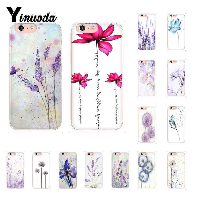 Yinuoda Cat Air Bunga Dandelion Lotus Lavender Coque Shell Ponsel Case untuk iPhone 8 7 6 6S PLUS 5 5S SE XR X XS MAX 10