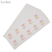 Lychee 100pcs Happy Birthday Round Sticker Labels Rainbow Color Self-adhesive Gift Package Sticker Baby Shower Decoration