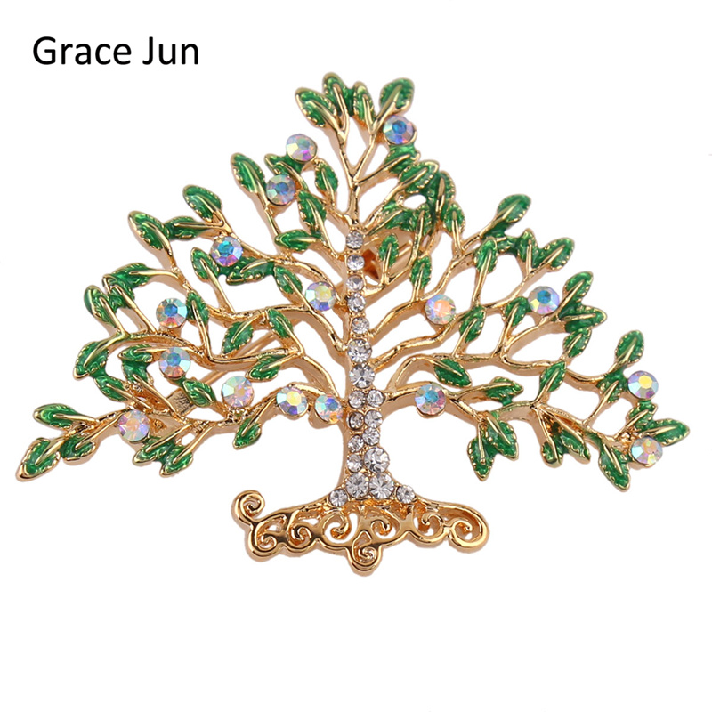 30Pcs/lots Wholesale Money Tree Brooches for Women Men Fashion Enamel Brooches and Pins  ...