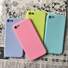 For iphone 5 5s SE Case Green Candy Silicone Cases for Iphone7 Cases  Shockproof TPU Case 621f15a2fca