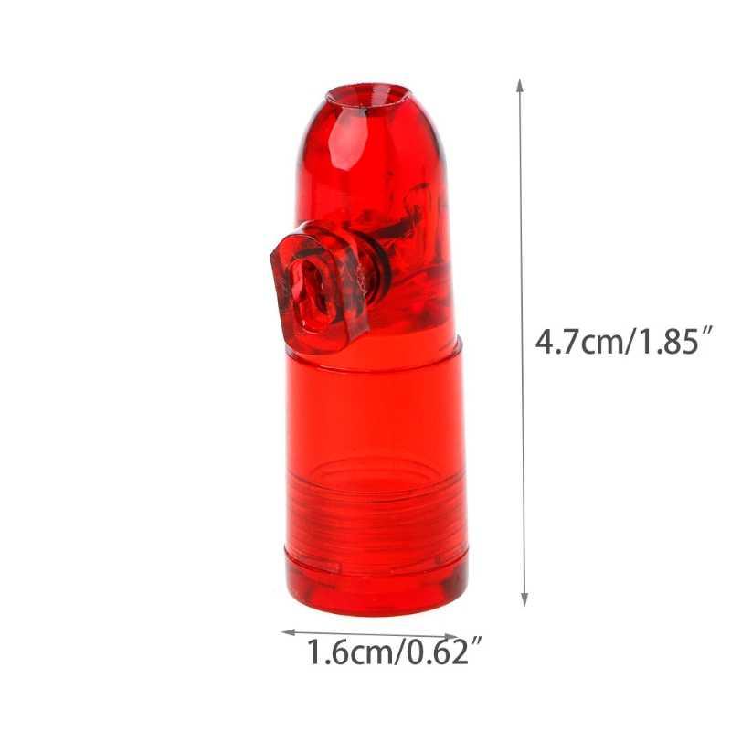 Portable Bullet Snuff Dispenser Snorter Rocket Shape Acrylic Bottle Nasal  Box