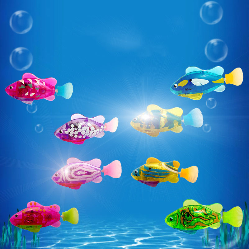Luminous Electric Swimming Electronic Swimming Fish Simulation Fish Robot Electronic Fish Robotic Pet for Fishing