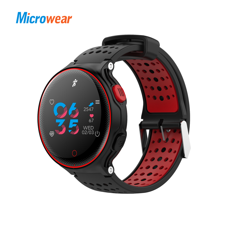 Microwear X2 Plus Smart Watch bracelet Colorful Display bluetooth heart rate blood pressure Sleep Monitor android