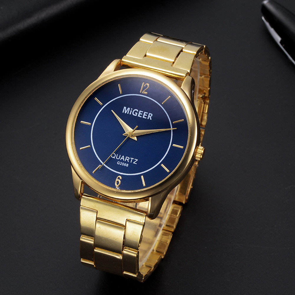 Fashion Man Design Stainless Steel Analog Alloy Quartz Men's Watch Wrist Party Decoration Suit Dress Watch Gifts Male Man Boy