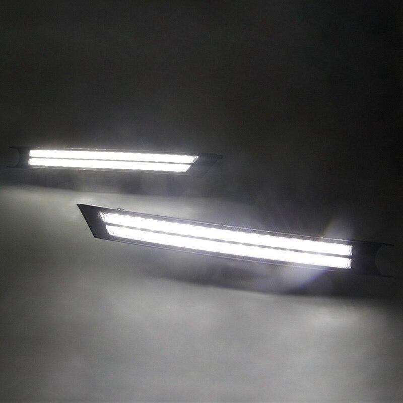 Tcart 2X voiture DRL LED feux de jour feux de brouillard avec feux de virage coulant pour Mazda CX-5 cx5 2017 2018 LED feux de jour auto