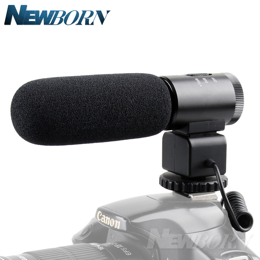 MIC 02 3 5mm Recording Microphone Digital SLR Camera Stereo Microphone for Canon Nikon Pentax Olympus