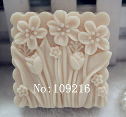 Wholesale 1pcs square flowers zx70 silicone handmade soap mold crafts diy mould.jpg 250x250