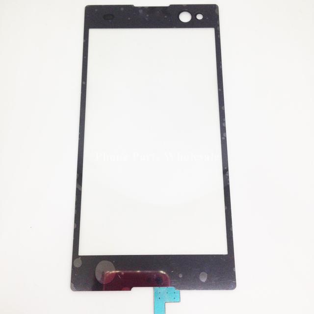 Para sony xperia m2 d2303 d2305 d2306 digitador da tela de toque painel de vidro exterior do toque sensor flex cabo de peças de reparo