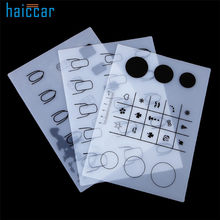 Beand New HAICAR 1PC Silicone Workspace Stamping Plate Washable Mat Table Transfer Tools For Nail Art Manicure Tool Pretty(China)