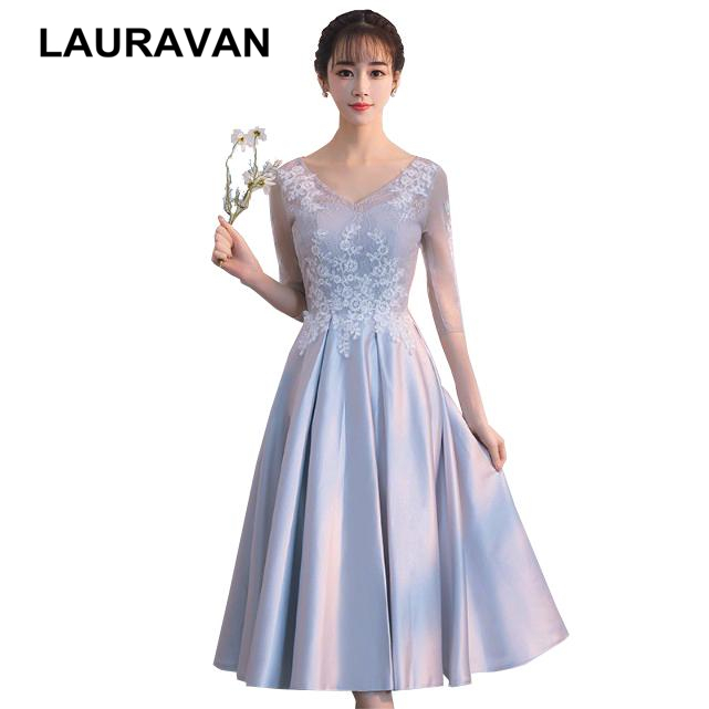 Elegant Classy V Neck Beautiful Grey Simple Bridesmaid Dresses Fitted Short Ball Gowns Size 2 Girl Special Occasion Dress