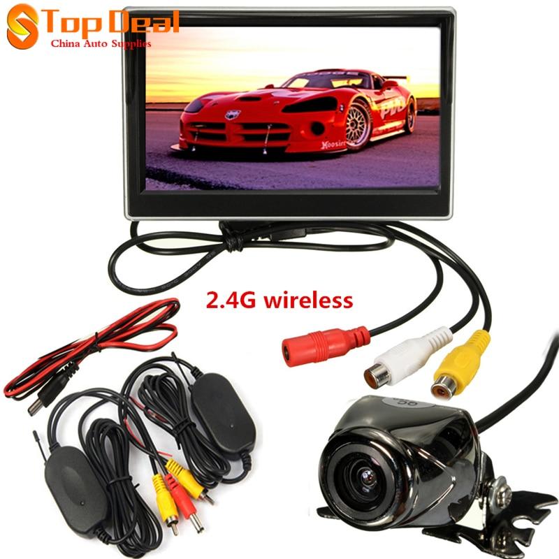 Новое Прибытие 5 Дюймов TFT-LCD Панели HD Цветной Монитор Вид Сзади Автомобиля с 7 ИК-Подсветка Автомобиля Камера Заднего вида