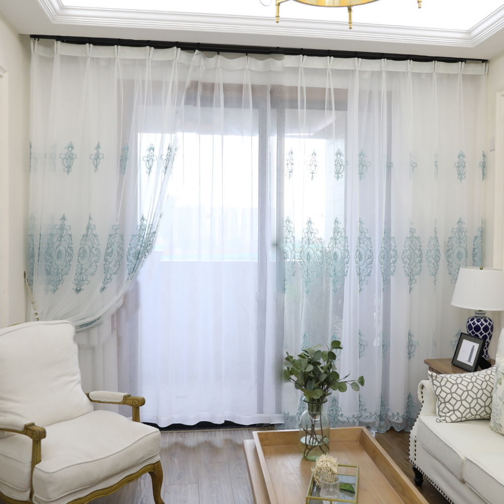 Sheer Tulle Window Curtains Living Room