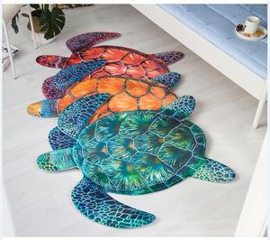 Alfombra creativa de tortuga 3D sofá de sala de estar Tapete Silla de ordenador alfombra de cama para niños alfombra antideslizante área alfombra