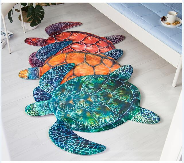 Creative tortue 3D tapis salon canapé Tapete ordinateur chaise lit tapis de sol pour enfants chambre tapis anti-dérapant zone tapis.