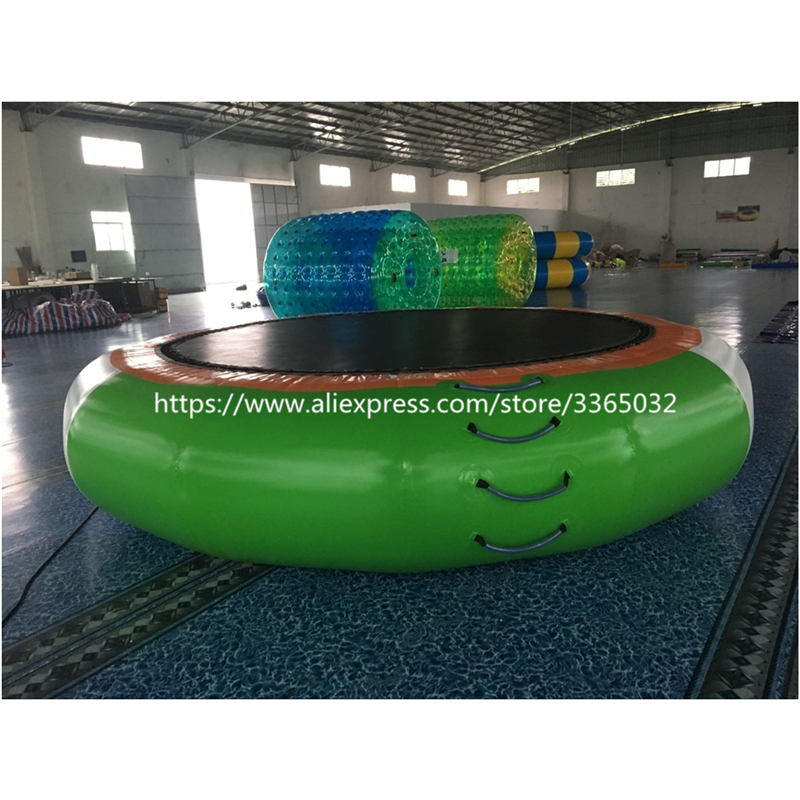 NEW Floating water park toy Swimming Pool Inflatable water trampoline for kid and adult ...