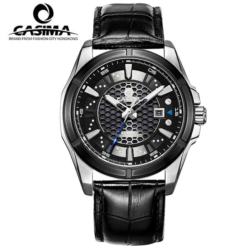 De luxe Marque CASIMA Hommes Montres montre homme Sport Solaire D'énergie Quartz Montre Hommes 100 m Étanche Mâle Horloge reloj hombre