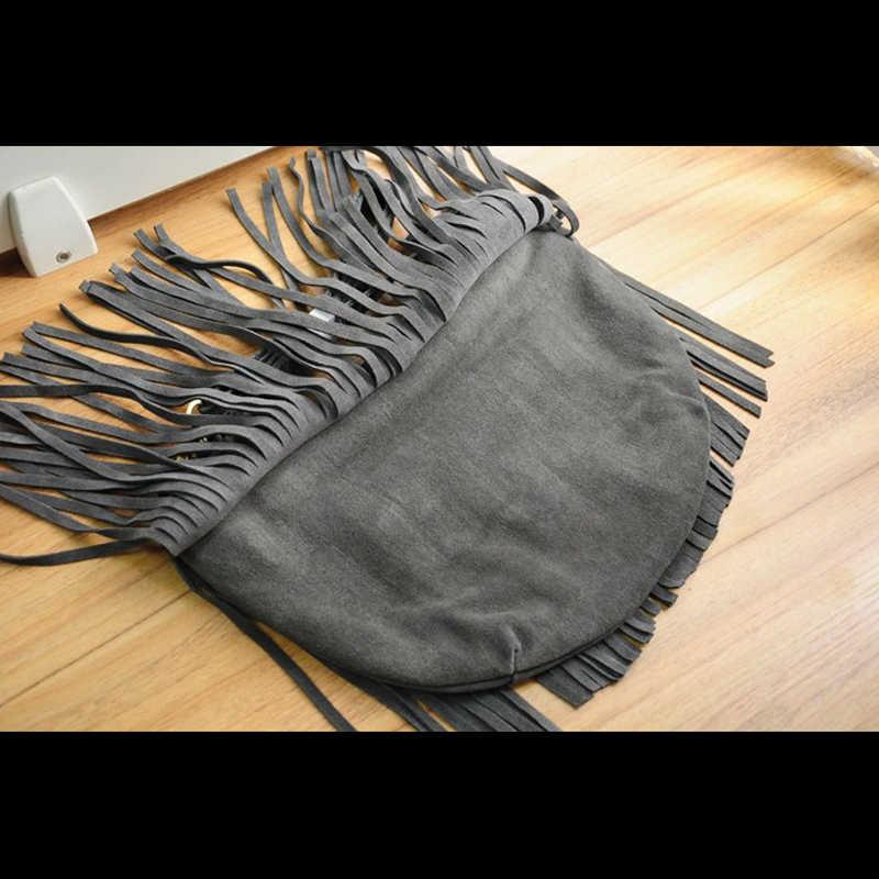 Винтаж из натуральной коровьей кожи Для женщин Сумки бахрома сумка с кисточками Для женщин сумки через плечо модные ботинки с бахромой сумки hobo
