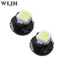 WLJH 10x T5 White T4.7 Neo Wedge 5050 SMD LED Bulb Dash A/C Climate Control Instrument Light for Dodge Ram(China)