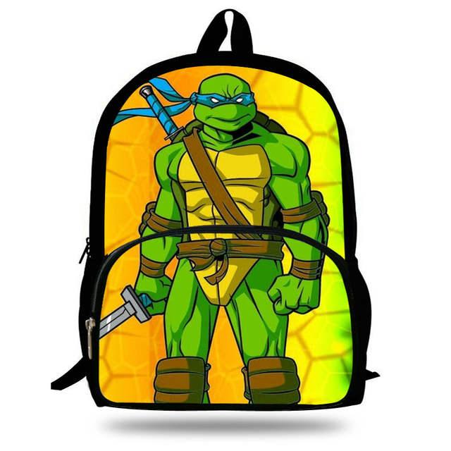 Us 17 23 Off 16 Inch Mochila Infantil Children School Bags Age Mutant Ninja Turtles Backpack Kids Boys 7 13 Catoon Gift In