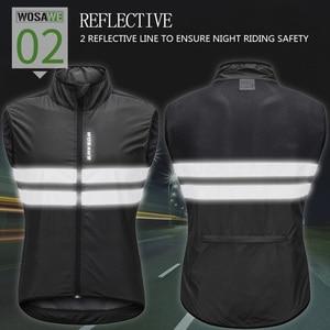 Image 3 - WOSAWE גבוהה נראות MOTO מעיל רעיוני אפוד מוטוקרוס מירוץ אפוד לילה רכיבה ריצה מעיל אופנוע בטיחות בגדים