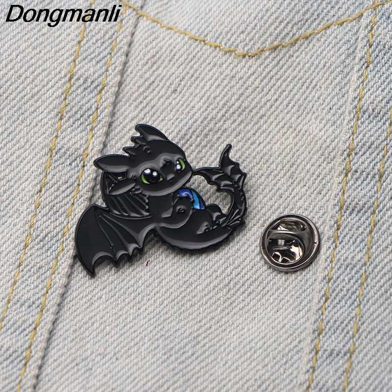 Dmlsky Anime Bros Logam Lencana Kartun Ransel Pin untuk Pakaian Cute Perhiasan M2701